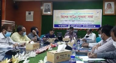 চাঁপাইনবাবগঞ্জে পুলিশ প্রশাসনের উদ্যোগে আইন শৃঙ্খলা বিষয়ক সভা অনুষ্ঠিত