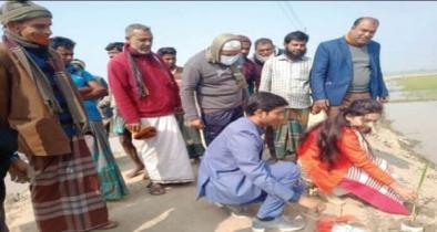 দুর্গাপুরে তালগাছ রোপন কর্মসূচী'র উদ্ধোধন করেন উপজেলা প্রশাসন