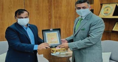 পানিসম্পদ প্রতিমন্ত্রীর সঙ্গে ভারতীয় হাইকমিশনারের সাক্ষাৎ